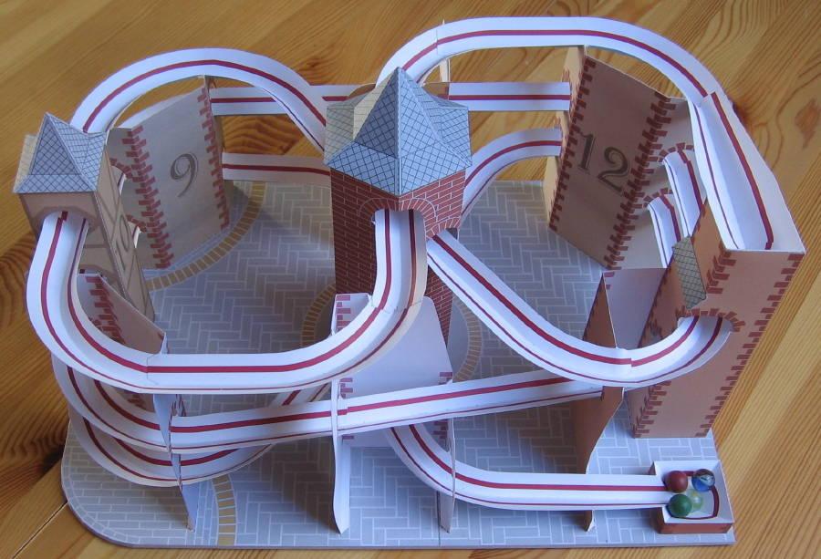 Lutz S Web Site Paper Model Roller Coaster